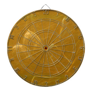 GOLDEN LOTUS Artistic Gold Foil Art Dartboard