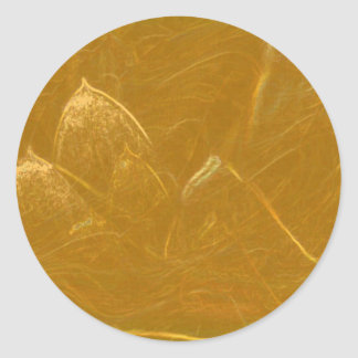 GOLDEN LOTUS BLANK TEMPLATE ARTISTIC LABEL DECO GI CLASSIC ROUND STICKER
