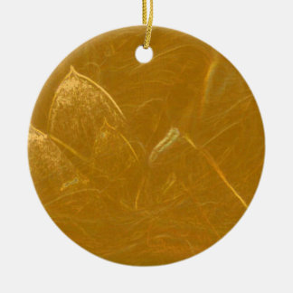 Golden Lotus Etched Foil LowPrice Shades n Pattern Ceramic Ornament