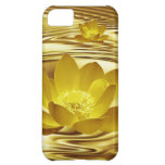 Golden lotus flower case for iPhone 5C
