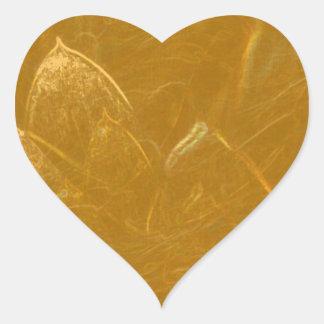 GOLDEN LOTUS FLOWER DECORATIVE GIFTS HEART STICKER