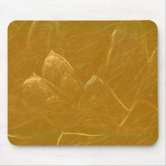 Golden Lotus Flower DIY add quote text photo Mouse Pad
