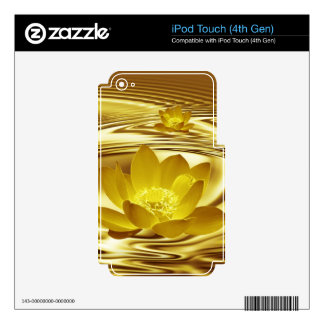 Golden lotus flower iPod touch 4G decal