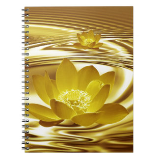 Golden lotus flower notebook