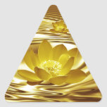 Golden lotus flower triangle stickers