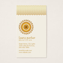 Golden Lotus Flower Yoga Meditation Health Spa Business Card