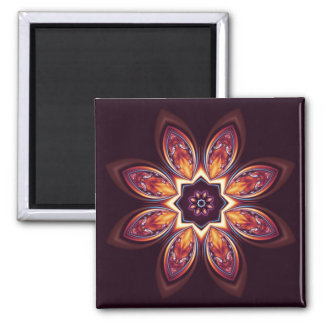Golden Lotus Fractal Magnet