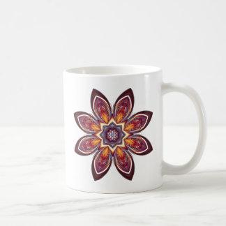Golden Lotus Fractal Mug