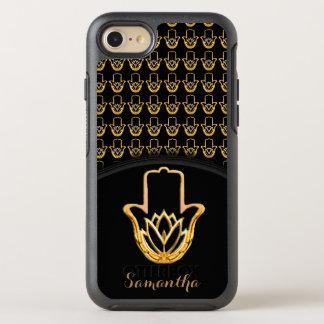 Golden Lotus Hamsa Hand OtterBox Symmetry iPhone 8/7 Case