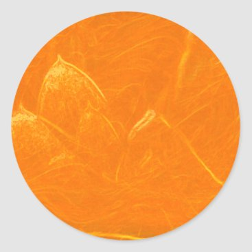 Beach Themed Golden Lotus Heart :  Embossed Gold Leaf Classic Round Sticker