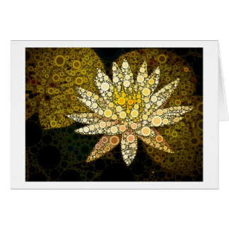 Golden Lotus Mosaic Card