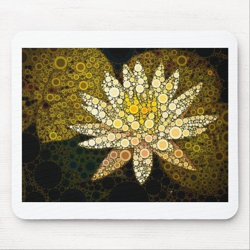 Golden Lotus Mosaic Mouse Pad