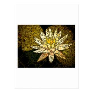 Golden Lotus Mosaic Postcard