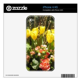 Golden Lotus Show Las Vegas Butterfly Garden Skin For iPhone 4S