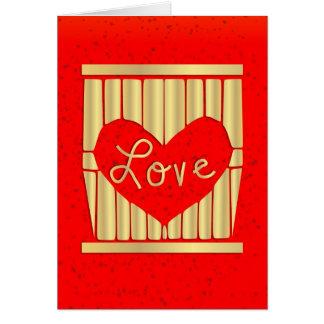 Golden Love Card