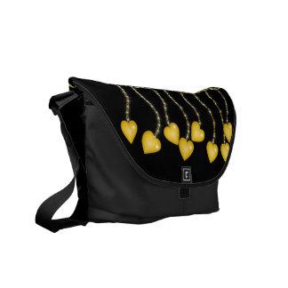 Golden Love Charms Messenger Bag