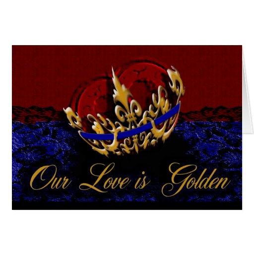 Golden Love Greeting Card