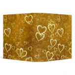 Golden Love Heart Shape 3 Ring Binder
