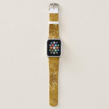 Golden Love Heart Shape Apple Watch Band