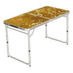 Golden Love Heart Shape Beer Pong Table