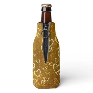 Golden Love Heart Shape Bottle Cooler