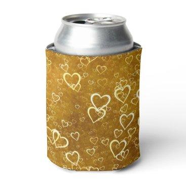 Golden Love Heart Shape Can Cooler