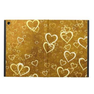 Golden Love Heart Shape Case For iPad Air