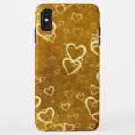 Golden Love Heart Shape iPhone XS Max Case