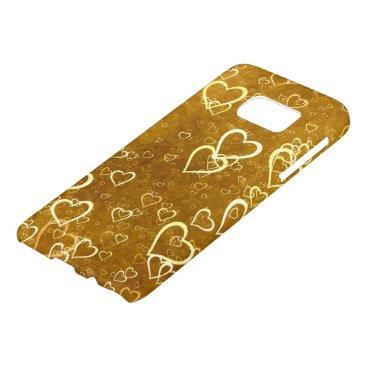 Golden Love Heart Shape Samsung Galaxy S7 Case