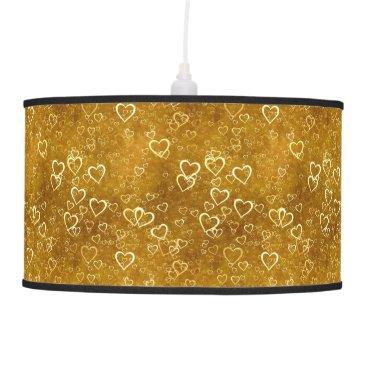 Golden Love Heart Shape Ceiling Lamp