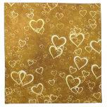 Golden Love Heart Shape Cloth Napkin
