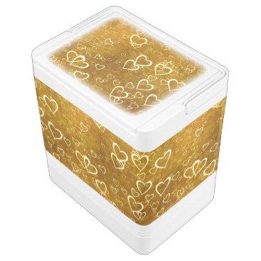 Golden Love Heart Shape Cooler