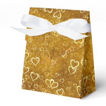 Golden Love Heart Shape Favor Box