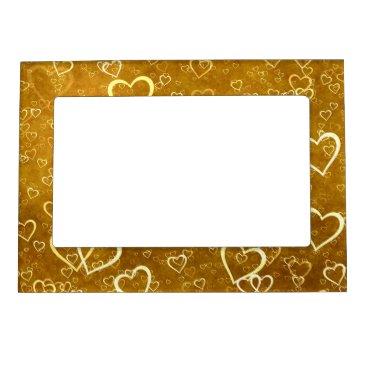 Golden Love Heart Shape Magnetic Frame