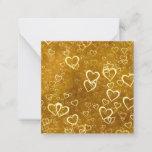 Golden Love Heart Shape Note Card