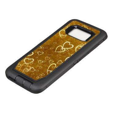 Golden Love Heart Shape OtterBox Defender Samsung Galaxy S8 Case