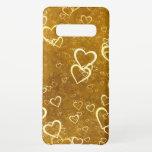 Golden Love Heart Shape Samsung Galaxy S10  Case