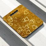 Golden Love Heart Shape Seat Cushion