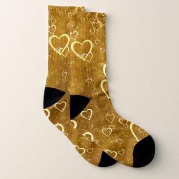 Golden Love Heart Shape Socks