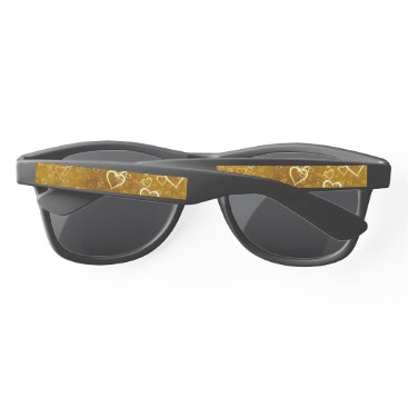 Golden Love Heart Shape Sunglasses