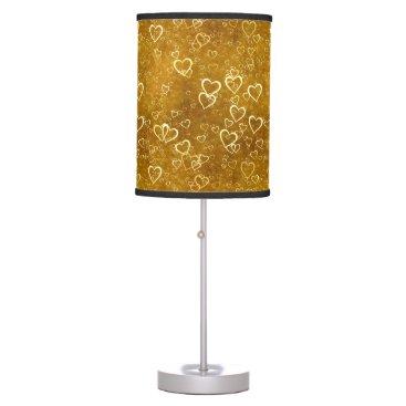 Golden Love Heart Shape Table Lamp