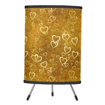 Golden Love Heart Shape Tripod Lamp