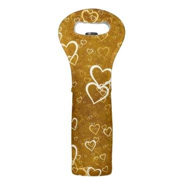 Golden Love Heart Shape Wine Bag