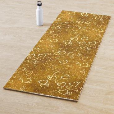 Golden Love Heart Shape Yoga Mat