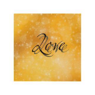 Golden Love Wood Wall Art