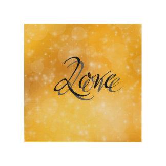 Golden Love Wood Prints