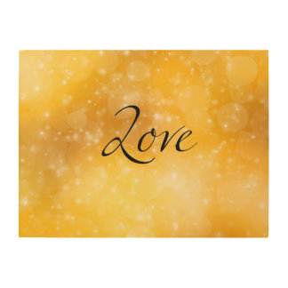 Golden Love Wood Canvases