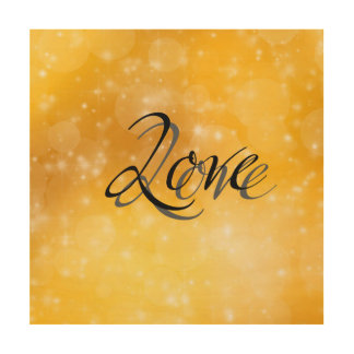 Golden Love Wood Canvas