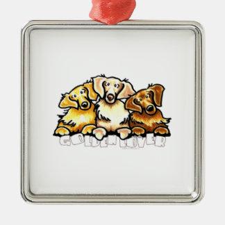 Golden Lover Metal Ornament