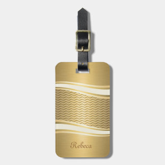 Golden luxury trendy chevron tags for luggage
